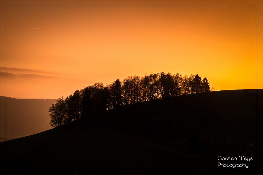 """Schwarz-Wald""  Sonnenuntergang"