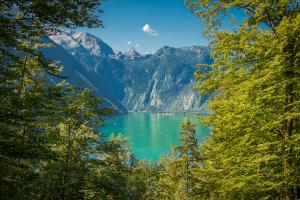 Beispiel für Einrahmungen (Königssee, Nationalpark Berchtesgaden)