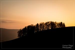 Bei diesem Sonnenuntergang im Schwarzwald weiß man auch, warum es Schwarz-Wald heißt :-)