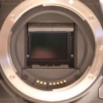 Bildsensor bei hochgeklapptem Spiegel