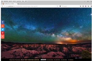 (Bild: Sternenhimmel über Utah, USA)